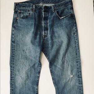Vintage Levi's Button-Ups Blue Jeans